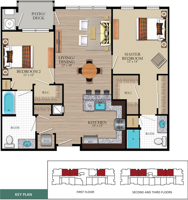 2 bedroom The laurels floor plan
